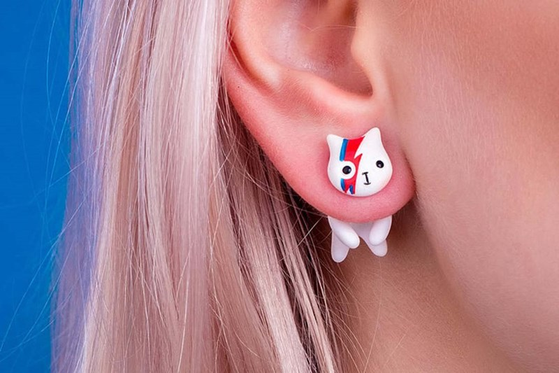 Cool cat earrings