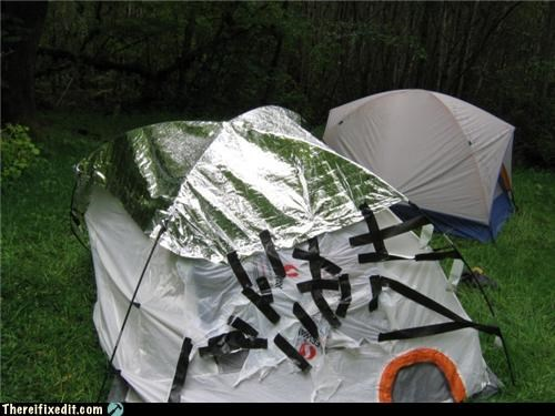 camping,Electrical tape,rain,tent