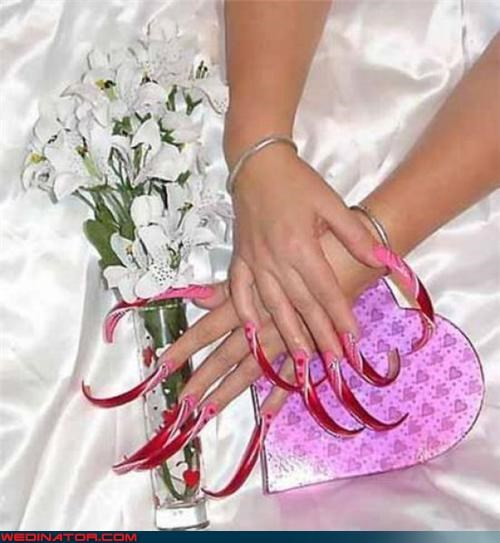 airbrushed Bling confusing Crazy Brides eww fashion is my passion ghetto ghetto bride ghetto fabulous long nails scary tacky technical difficulties wtf
