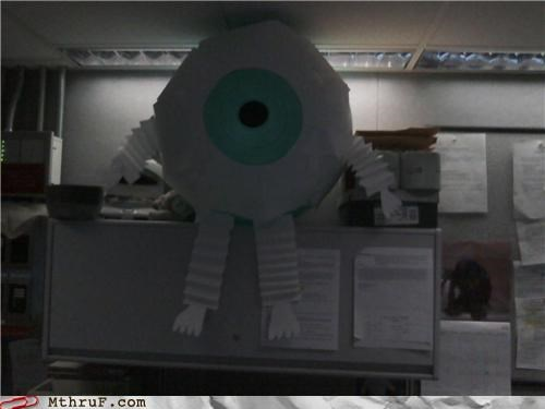 1984 all-seeing eye always watching creepy decoration demon depressing dickhead co-workers eyeball inflatable passive aggressive prank screw you sculpture spectre surveillance Terrifying voyeur watcher wiseass - 3587192320