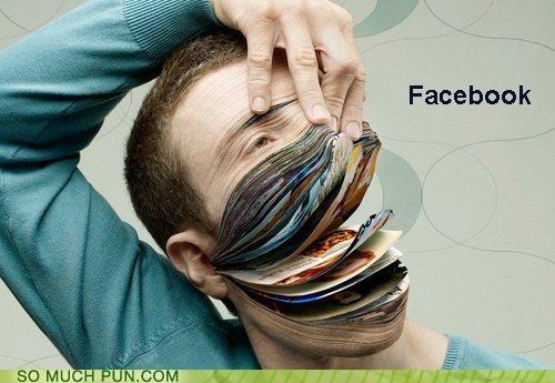 art creepy facebook internet puns - 3587224320