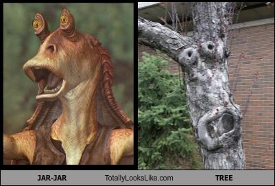 cgi,jar jar binks,nature,star wars,tree