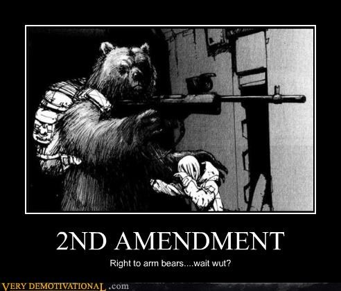 america animals bears drawings art freedom guns rifle rights Terrifying