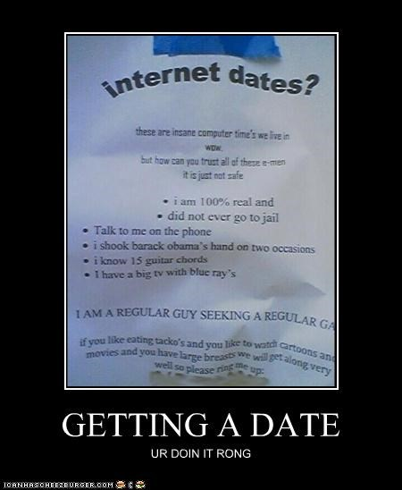GETTING A DATE UR DOIN IT RONG