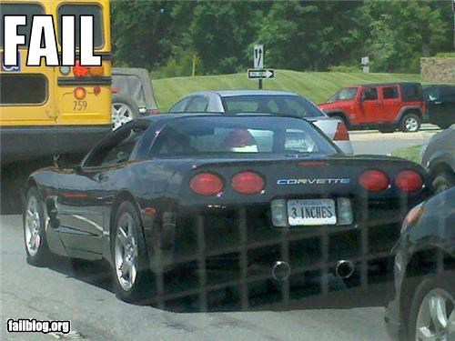 failboat,inches,plate,sports car,tiny,vanity