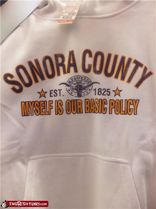 policy product sweatshirt Unknown