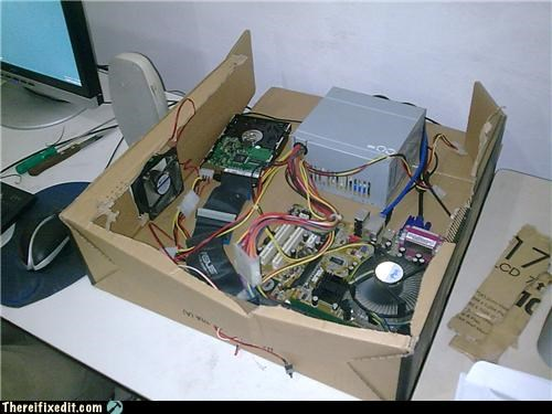 cardboard case computer housing mod recycling-is-good-right - 3590530560