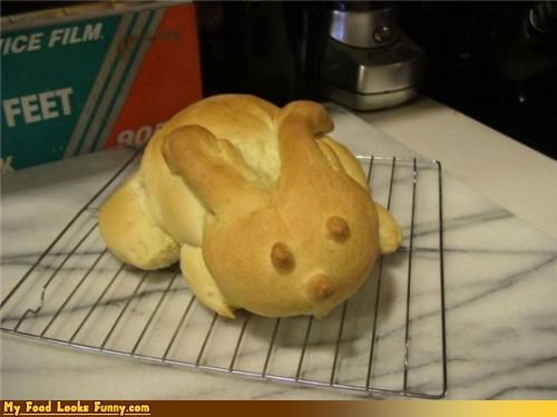 animal baked bread bun bunny Fluffy loaf rabbit - 3590775552