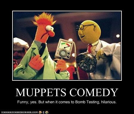 beaker,bomb,dr-bunsen-honeydew,funny,muppets,The Muppet Show