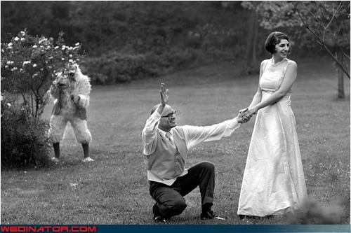 bw,bride,chicken suit,chicks,costume,fashion is my passion,furry,groom,miscellaneous-oops,photobomb,surprise,technical difficulties,unknowing couple,were-in-love,wtf