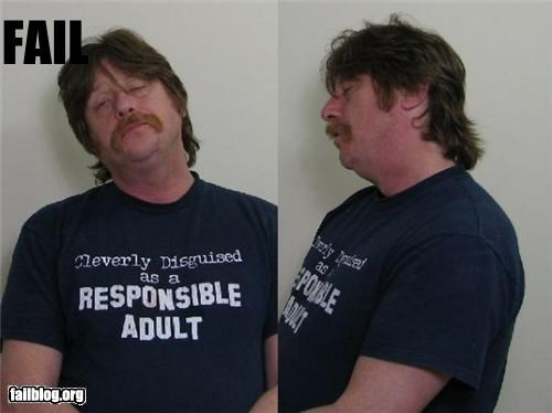 Mugshot FAIL This man was arrested for beating up a stranger at a bonfire with his two underage, drunk sons.