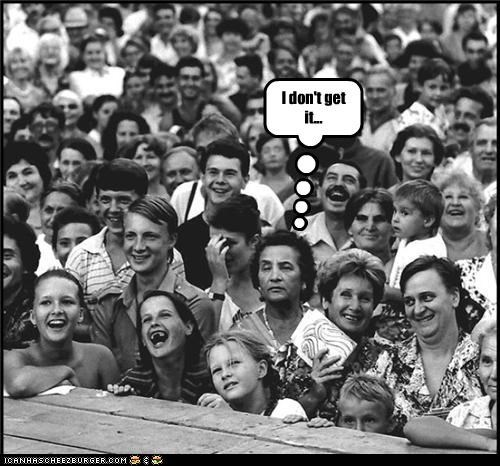 confusion crowd funny lady photograph - 3591799808