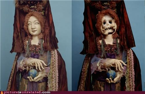 creepy Death doll transformation wtf - 3592295424