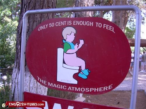 child magic sign toilet wtf - 3592830720