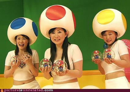 costume eating people girls Japan mario Mushrooms wtf