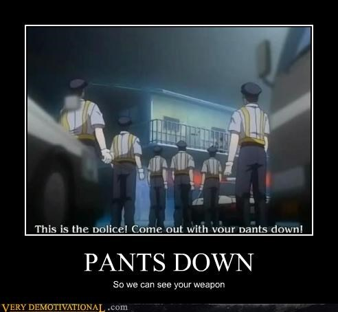 anime cops idiots lost in translation pants pants on the ground pervs translation - 3593968128