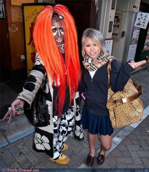 big in Japan,bottle blondes,Ganguro,orange hair