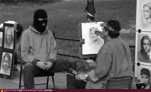 art,drawing,ski masks,wtf