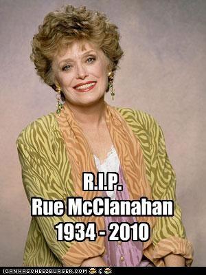 actress,Death,rip,Rue McClanahan,Sad,The Golden Girls