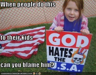 america children god hate protester signs Westboro Baptist Church - 3594924800