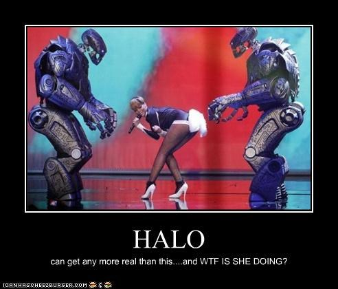 HALO can get any more real than this....and WTF IS SHE DOING?
