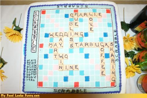 cake game scrabble Starbucks Sweet Treats wedding words - 3596201728