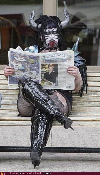 costume,fashion,GWAR,newspaper,wtf