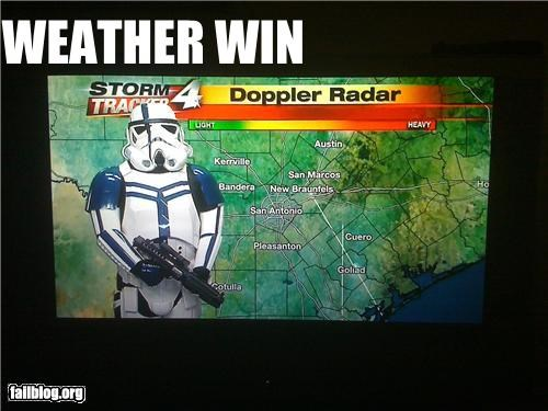 failboat,forecast,g rated,star wars,stormtrooper,weather
