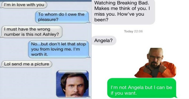 Collection of funny wrong number texts that left us very entertained.