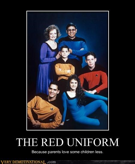 awesome,family photos,Mean People,red shirts,Star Trek