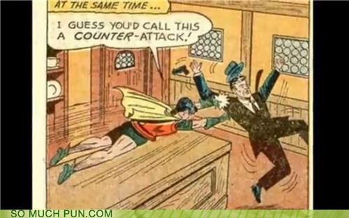 attack batman comics counter puns vintage - 3599594496