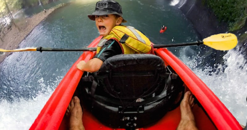 Kid Kayaking Gets the Photoshop Battle Treatment