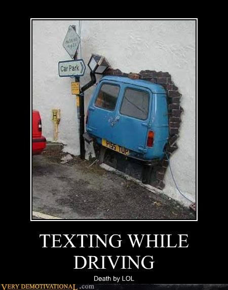 car park crashing driving modern life Sad texting vans whoops-youre-dead - 3601764352