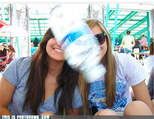 bottle Impending Doom photobomb water bottle