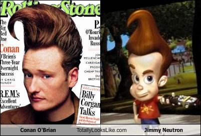 animation,cartoons,conan obrien,hair style,jimmy neutron,talk show