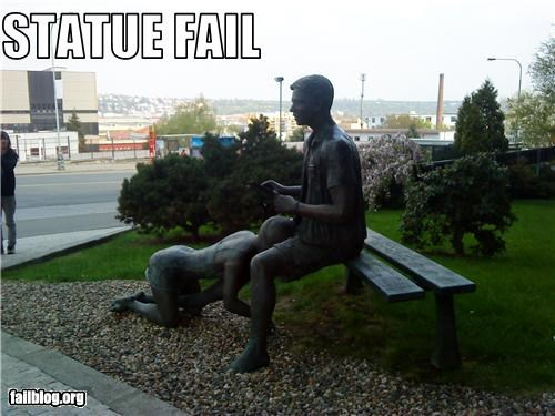 failboat statue suggestive wtf
