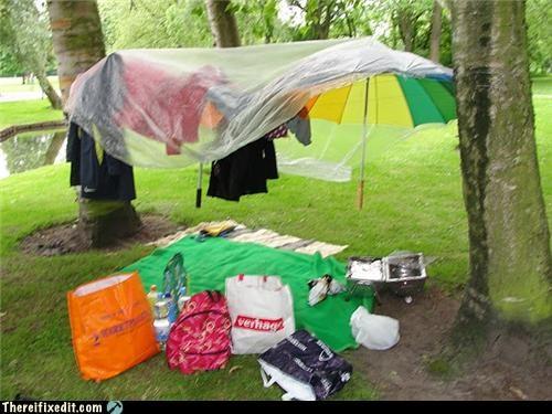 bbq outdoors rain summer umbrella - 3604900352