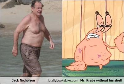 actor,bathing suit,cartoons,jack nicholson,mr krabs,nickelodeon,SpongeBob SquarePants