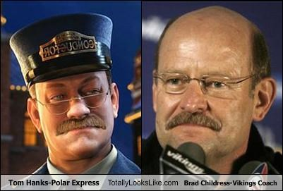 actor Brad Childress cgi coach polar express sports tom hanks vikings - 3605468160