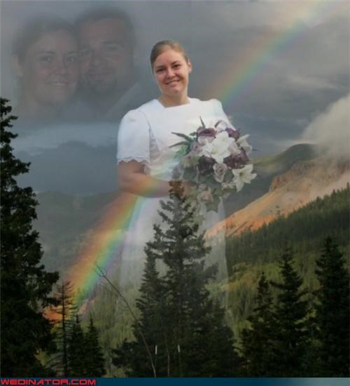 aww bad photoshop job Crazy Brides crazy groom fashion is my passion funny photoshopped wedding picture funny wedding photos photoshopped wedding picture rainbow technical difficulties were-in-love wtf wtf is this - 3605843200