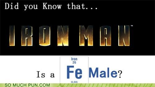 comic books,iron man,modern man,periodic table,puns,science