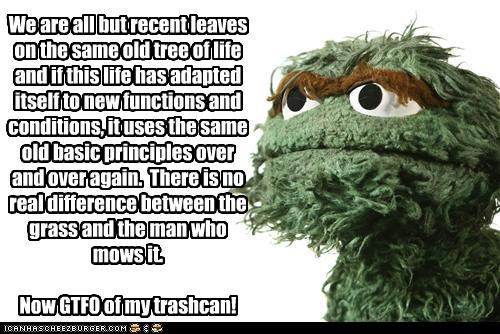 grumpy oscar the grouch poetry puppets Sesame Street - 3606882048