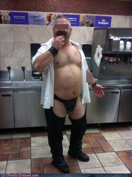 chaps,fetishwear,fine dining