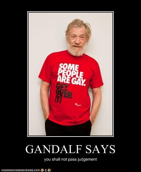 actor gandalf gay ian mckellen Lord of the Rings sci fi shirt - 3607322880