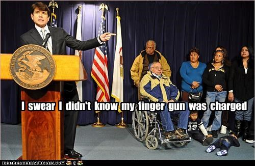 baby finger gun Rod Blagojevich shooting wtf - 3607476736