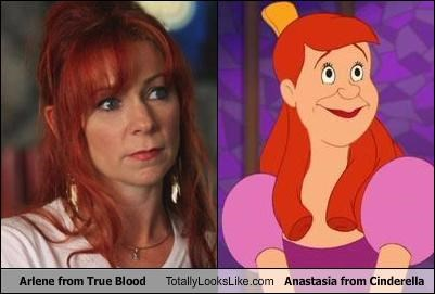 anastasia,Carrie Preston,cartoons,cinderella,disney,redhead,true blood,TV