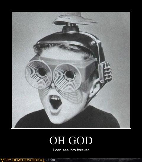 black and white kids oh god Pure Awesome shock singularity technology vintage - 3609079296