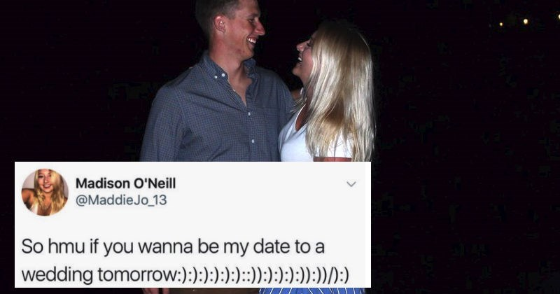 Girl tweets out a wedding date request and it ends up leading to a fairytale ending.