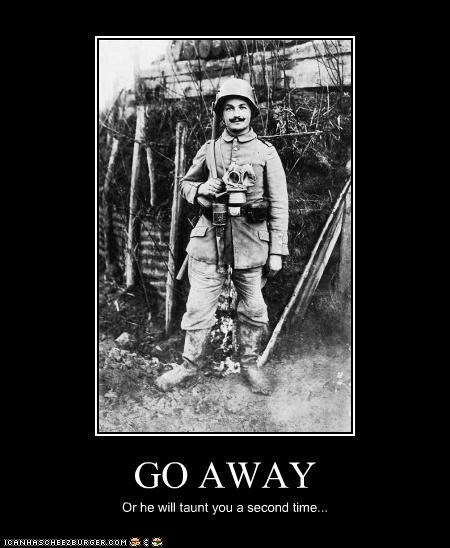 demotivational,funny,gentleman,history,monty python,photograph,soldier