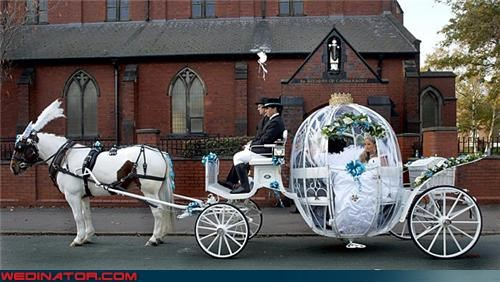 bridezilla carriage Crazy Brides extravagant wedding fashion is my passion goin-broke high expectations horse-drawn carriage over the top princess wedding rich vs poor the princess bride Wedding Themes wtf yikes